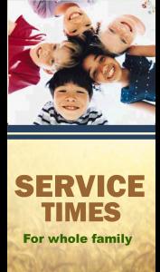 Service Times website